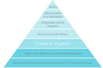 Transanal irrigation pyramid